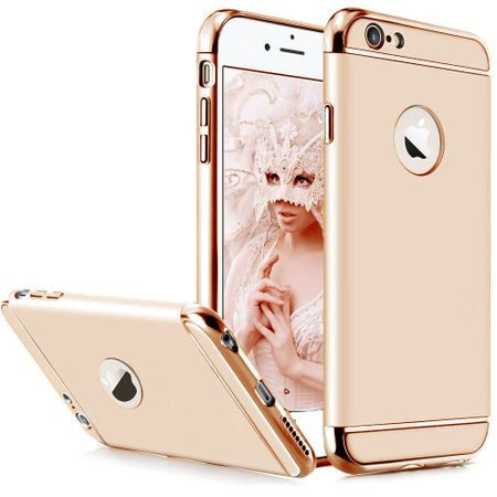 Husa Apple iPhone SE2, Elegance Luxury 3in1 Auriu