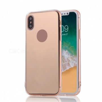 Husa Apple iPhone X, Elegance Luxury tip oglinda Rose-Gold