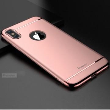 Husa Apple iPhone X, FullBody Elegance Luxury iPaky Rose-Gold , acoperire completa 360 grade cu folie de sticla gratis