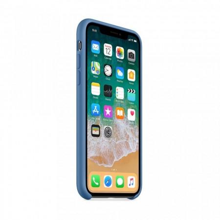 Husa Apple iPhone X, Silicon antisoc, Albastru