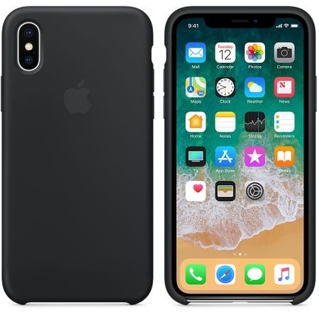 Husa Apple iPhone X , Silicon antisoc, Negru