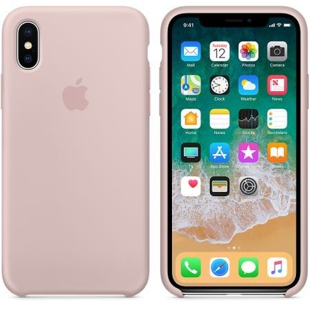 Husa Apple iPhone XS MAX, Silicon antisoc, Roz / Pink Sand
