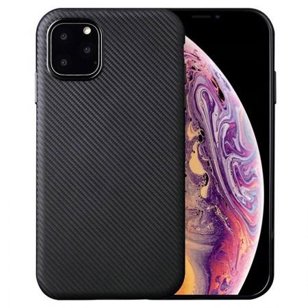 Husa pentru Apple iPhone 11 PRO, Perfect Fit cu insertii de carbon negru