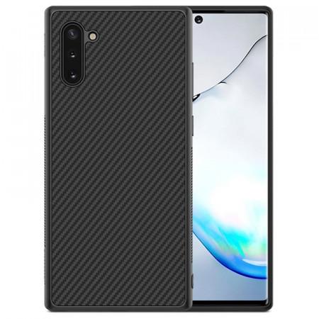 Husa pentru Samsung Galaxy Note 10 Plus, Perfect Fit, cu insertii de carbon, negru