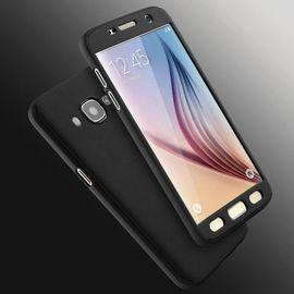Husa Samsung Galaxy J3 2017, FullBody Elegance Luxury Black, acoperire completa 360 grade cu folie de sticla gratis