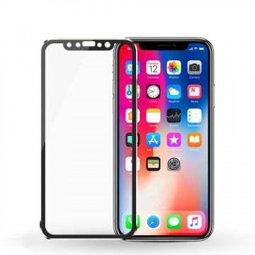 Pachet 3 folii de sticla Apple iPhone X, margine metalica, Elegance Luxury