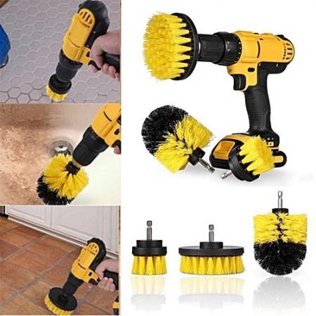 Set Perii pentru Mocheta & Uz Casnic /Profesional Detailing Carpet Brush cu Adaptor Bormasina