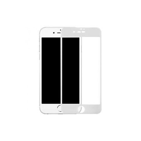 Folie de sticla 5D Apple iPhone 8 Plus, cu margini colorate Alb