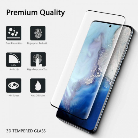Folie de sticla pentru Samsung Galaxy S20 Ultra, cu margini colorate Negru