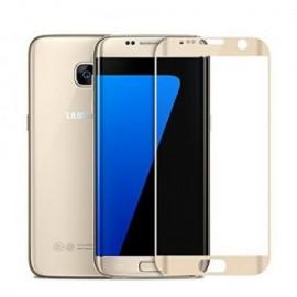 Folie de sticla Samsung Galaxy S7 Edge, Elegance Luxury margini curbate colorate Gold