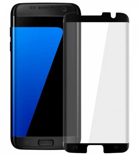 Folie de sticla Samsung Galaxy S7 Edge, Negru Case Friendly