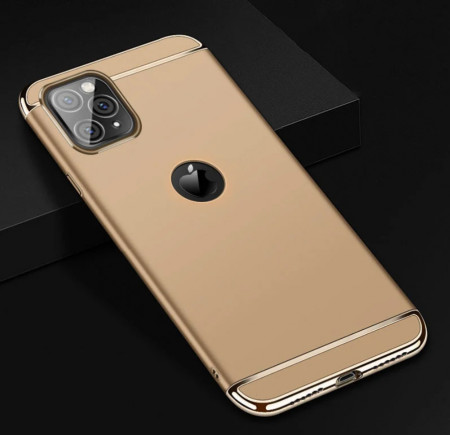 Husa Apple iPhone 11 PRO, Elegance Luxury 3in1 Gold