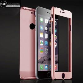 Husa Apple iPhone 6/6S, FullBody Elegance Luxury Rose-Gold, acoperire completa 360 grade cu folie de sticla gratis