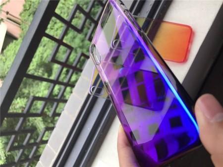 Husa Apple iPhone 6 Plus/6S Plus, Gradient Color Cameleon Albastru-Galben