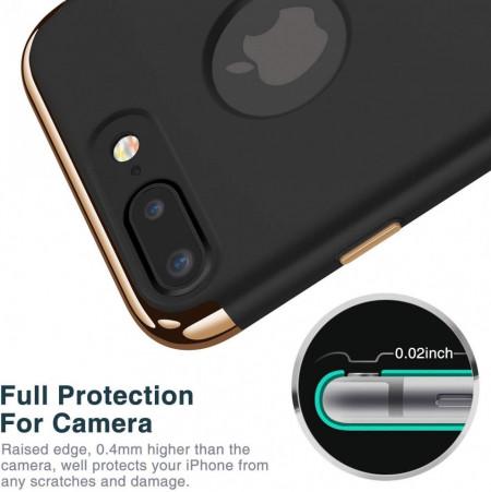 Husa Apple iPhone 7, Elegance Luxury 3in1 Black
