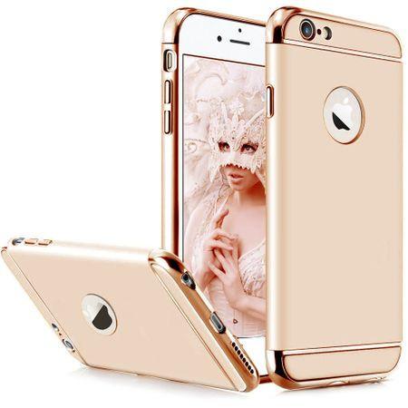 Husa Apple iPhone 8, Elegance Luxury 3in1 Auriu