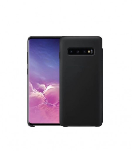 Husa Samsung Galaxy S10 Plus, Silicon antisoc, Negru