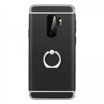 Husa Samsung Galaxy S9, Elegance Luxury 3in1 Ring Negru