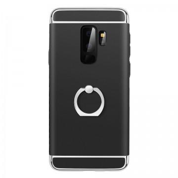 Husa Samsung Galaxy S9, Elegance Luxury 3in1 Ring Negru