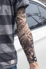 Maneca tatuata 3D Print - Imita un tatuaj real 100% - Body art tattoo maneca V6
