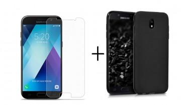 Pachet husa Elegance Luxury slim antisoc Black pentru Samsung Galaxy J5 2017 cu folie de protectie gratis