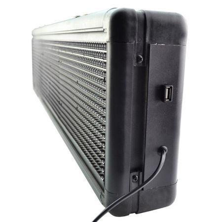 Panou Led de Exterior Programabil/Reclama Luminoasa 130x40 ROSU