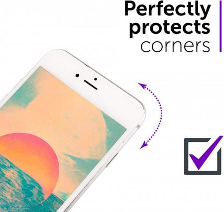 Folie de sticla 3D Apple iPhone SE2, Elegance Luxury margini colorate White
