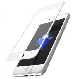 Folie de sticla Apple iPhone 7, Elegance Luxury margini colorate White