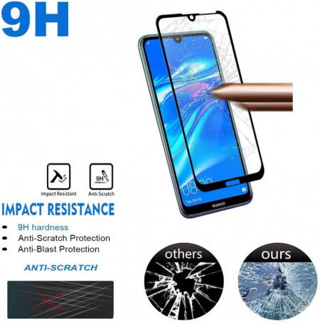 Folie de sticla Huawei Y7 2019, 9D FULL GLUE Negru