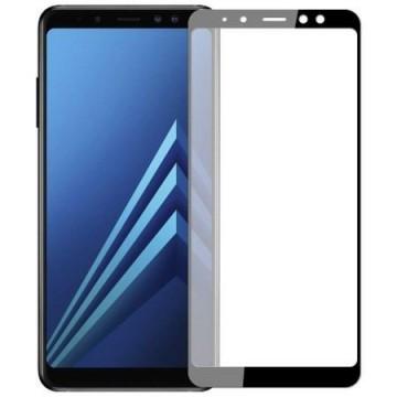 Folie de sticla pentru Samsung Galaxy A8 2018 cu margini colorate Negru