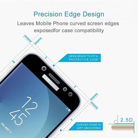 Folie de sticla Samsung Galaxy J7 2017 FULL GLUE cu margini negre Elegance Luxury