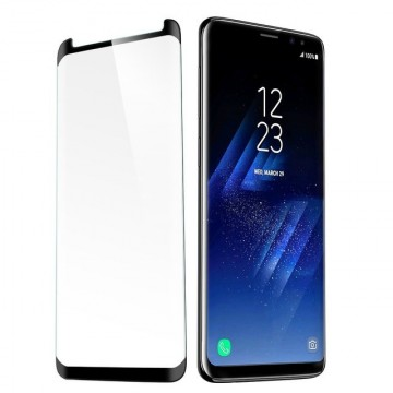 Folie de sticla Samsung Galaxy S9, Negru Case Friendly