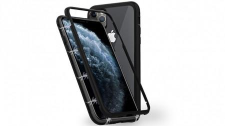 Husa Apple iPhone 11 PRO Negru, Perfect Fit cu spate de sticla securizata premium