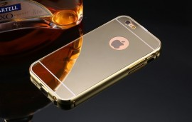 Poze Husa Apple iPhone 5/5S/SE, Elegance Luxury tip oglinda Gold