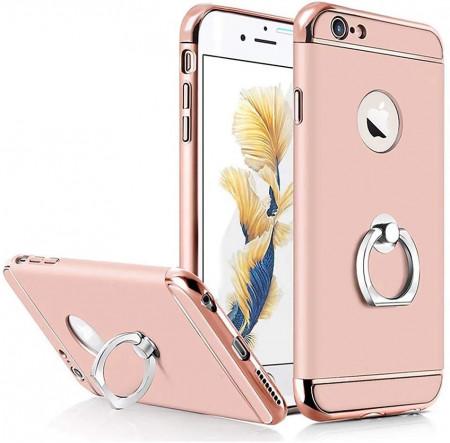 Husa Apple iPhone 6/6S , Elegance Luxury 3in1 Ring Rose-Gold