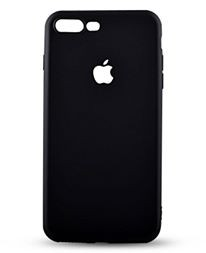 Husa Apple iPhone 6 Plus/6S Plus,  antisoc cu decupaj logo Black