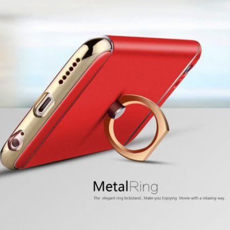 Husa Apple iPhone 7 Plus, Elegance Luxury 3in1 Ring Red