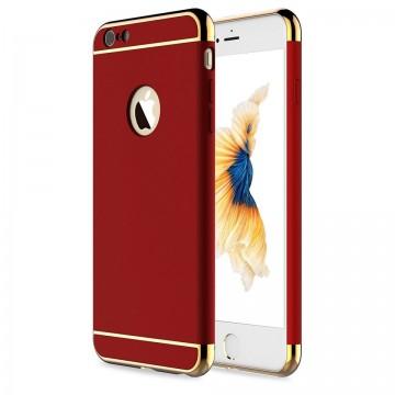 Husa Apple iPhone 8, Elegance Luxury 3in1 Rosu