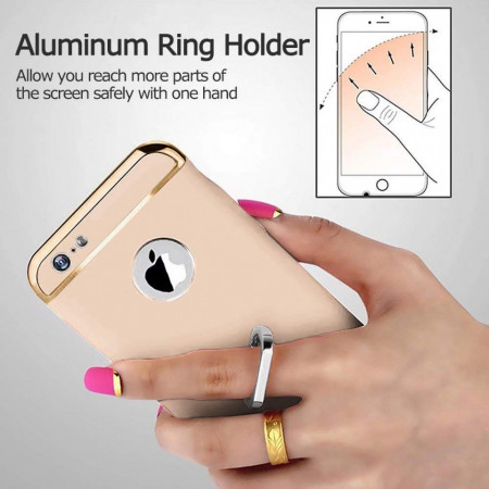 Husa Apple iPhone 8 Plus, Elegance Luxury 3in1 Ring Auriu