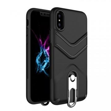 Husa Apple iPhone X, Armura Negru / Armour Strong Black