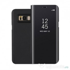Husa de protectie Clear View Standing pentru Samsung Galaxy J5 2017 - Black