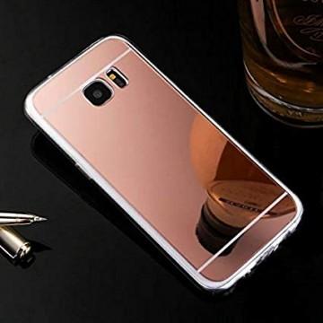 Husa Samsung Galaxy S6 Edge, Elegance Luxury tip oglinda Rose-Gold