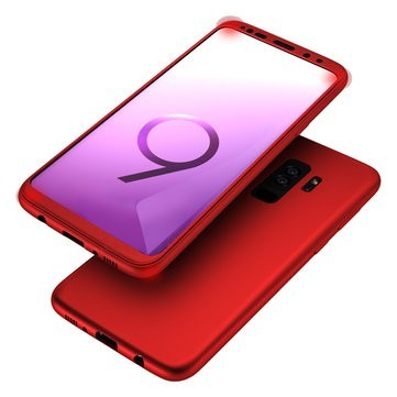Husa Samsung Galaxy S9, FullBody Elegance Luxury Rosu, acoperire completa 360 grade cu folie de protectie gratis