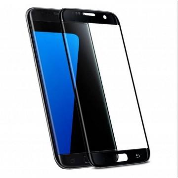 Pachet 3 folii de sticla Samsung Galaxy S7 Edge,Elegance Luxury, Negru