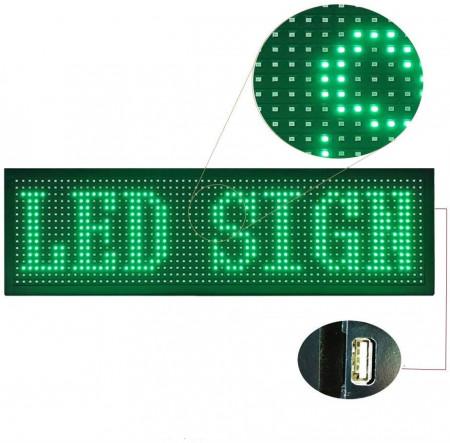 Panou Led de Exterior Programabil/Reclama Luminoasa 200x40 VERDE