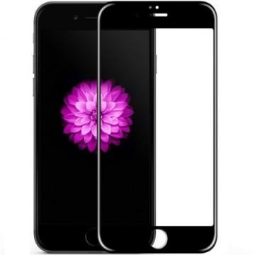 Folie de sticla Apple iPhone 6, cu margini colorate Negru