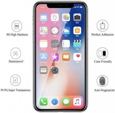 Folie de sticla case friendly Apple iPhone 11 transparenta