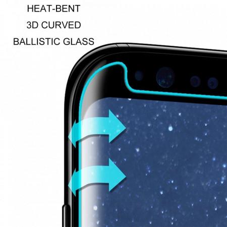 Folie de sticla case friendly Samsung Galaxy Note 8, Elegance Luxury margini curbate transparenta
