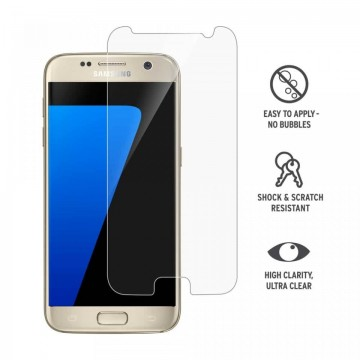 Folie de sticla Samsung Galaxy S7 Edge, Clear Case Friendly