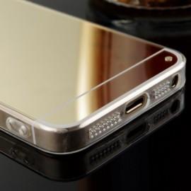 Husa Apple iPhone 5/5S/SE, Elegance Luxury tip oglinda Gold